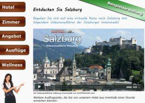 Beispieldarstellung AUSTRIAinHD.com Videoreiseführer auf Website